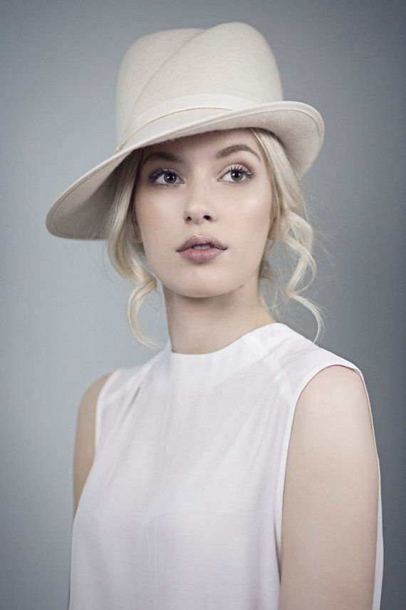 Off+White+Fedora+Wedding+Hat+Elegant+Winter+by+MaggieMowbrayHats