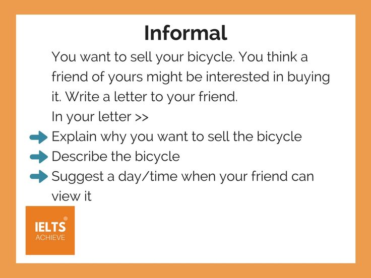15 best ielts general training images on pinterest how to write an informal letter malvernweather Choice Image