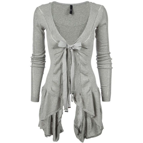 HIGH 'Chapter' ribbed asymmetric hem cotton cardigan