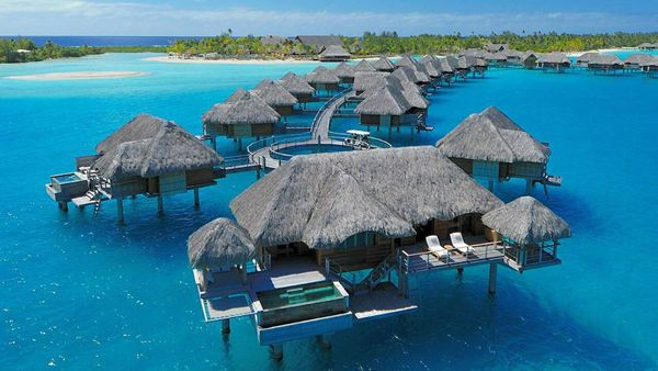 Bora Bora is famous for luxury resorts with villas over the lagoon. For a romantic getaway or dream honeymoon, try one of these beautiful overwater bungalows in Bora Bora and Moorea in the Islands of Tahiti.