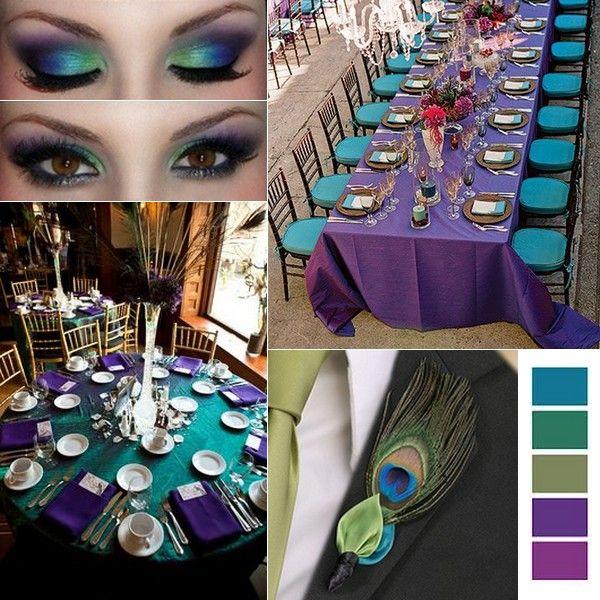 Peacock wedding inspiration board