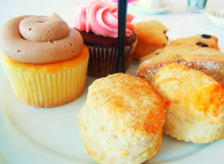 Cupcakes, scones, biscotti and more at Le Dolci's tea in Toronto.
