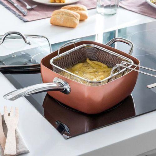 Poêle multifonction en céramique avec accessoires - 49,60 € - La poêle multifonction avec revêtement en céramique pour les cuisinières à gaz, électrique, en vitrocéramique et à l'induction... à petit prix, plus d'infos sur Planete Discount