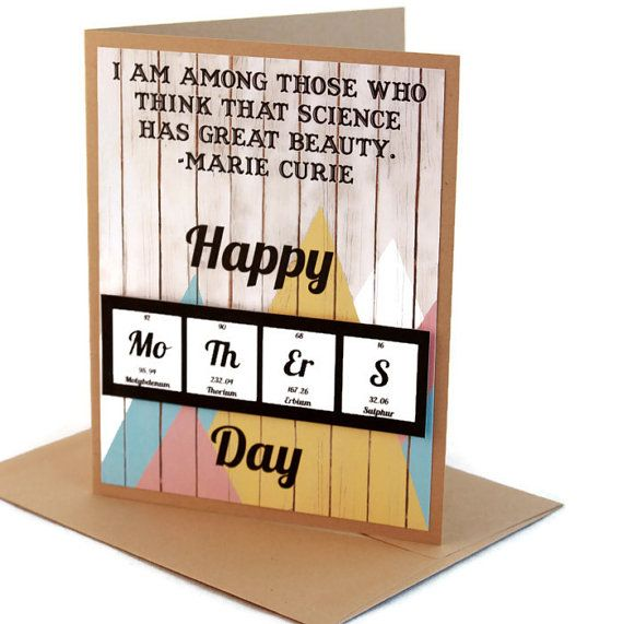 Mothers Day Card Science Periodic Table Chemistry by ShopGibberish, $6.50