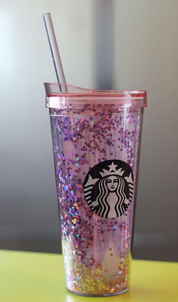 Korea Starbucks 16 Cherry Blossom Pink Glitter Cold Cup 650ml  #Starbucks