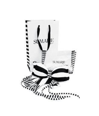 SUMARIE 'Belinda' black & white bikini top.      Halter neck bandeo bikini bra with removable padding. $99.00, via Etsy.