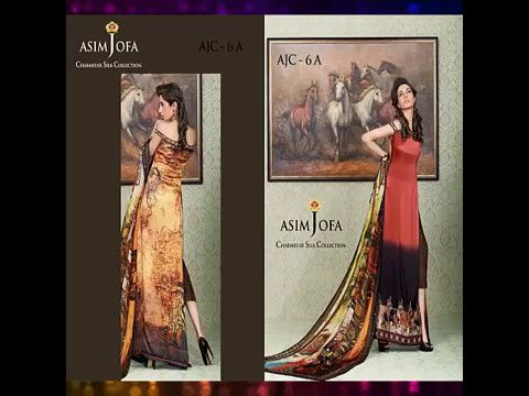 Asim Jofa Charmeuse Silk Eid Collection For Women