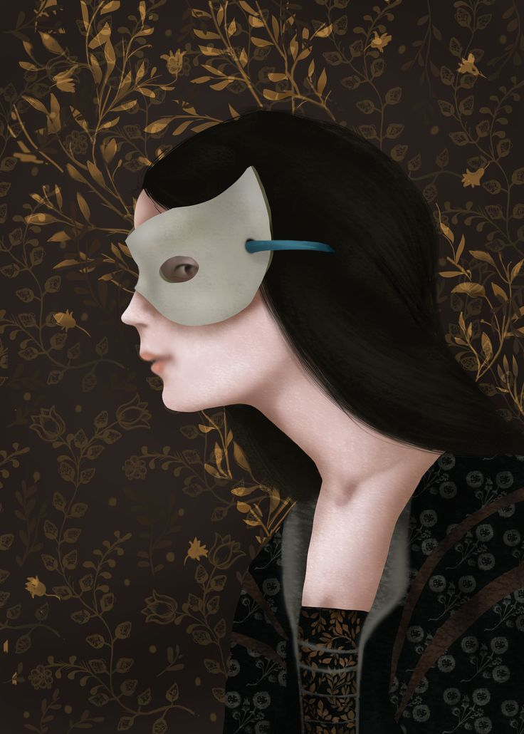 """Julia portrait from """"Romeo and Juliet"""" by William Shakespeare, Illustration Paulina Wyrt GREG Publishing House, 2016"""