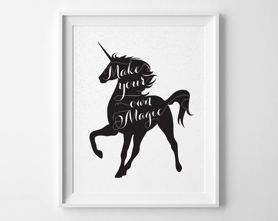 Make Your Own Magic Unicorn Print Unicorn by SweetPeonyPress