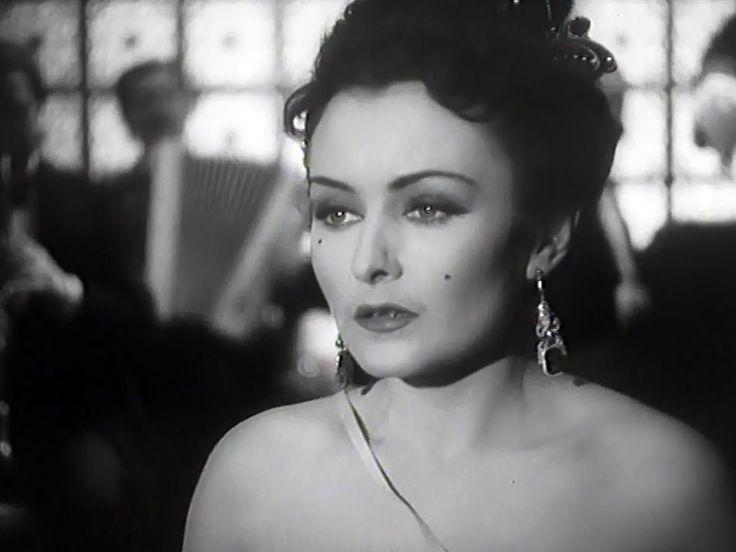 "Hana Vitova in movie ""The Night Butterfly"" (1941)."