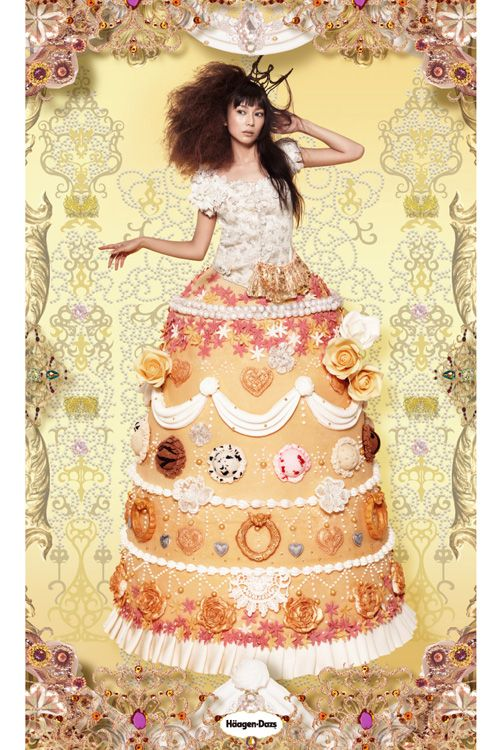 Ice Cream QueenHaagendazs Jp, Japan Art, Candies Girls, Graphics Design, Foodies Image, Art Fashion芸術ファッション, Work 清川あさみ Asami Kiyokawa, Cake Queens, Ice Queens
