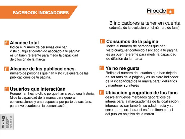 Indicadores de analisis en Facebbok