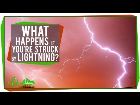 ▶ From the SciShow on YouTube - What Happens If You're Struck By Lightning? The chances of you being hit by lightning are small by comparison, but it does happen! Hank will go through what ultimately happens when you are struck by lightning because chances are you will survive to tell it to your friends.