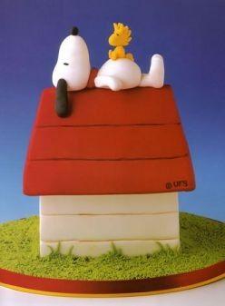 Snoopy Cake // Tarta de Snoopy
