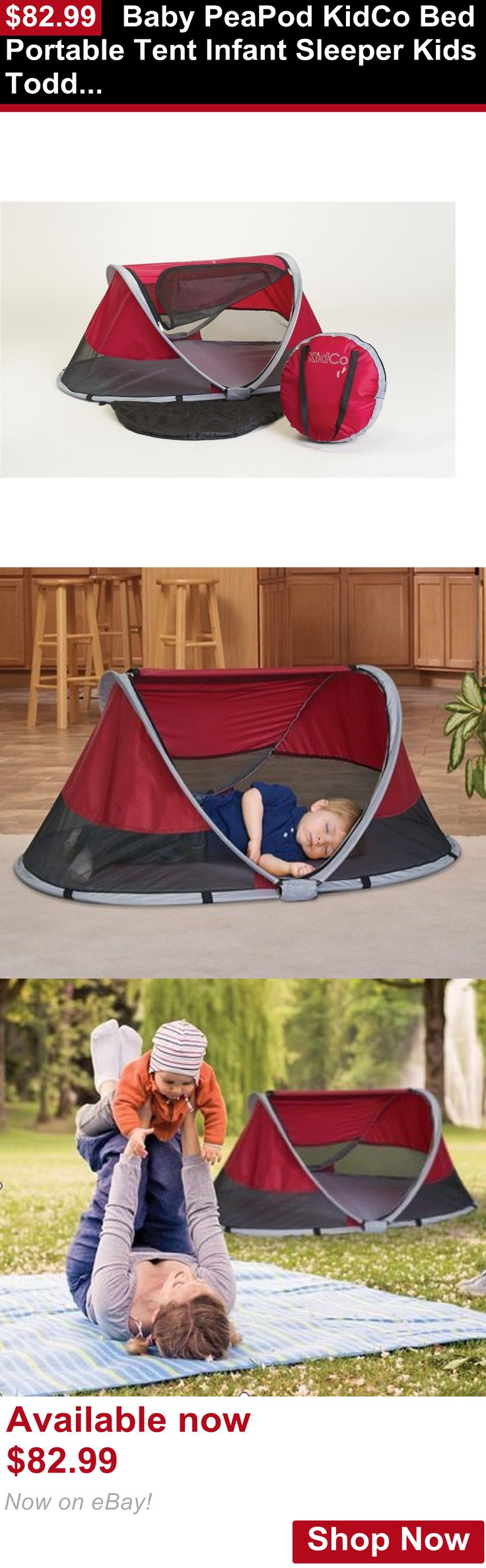 Baby play shades and tents: Baby Peapod Kidco Bed Portable Tent Infant Sleeper Kids Toddler Anchor Straps BUY IT NOW ONLY: $82.99