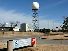 NEXRAD (Next-Generation Radar) is a network of 159 high-resolution Doppler weather radars operated by the National Weather Service, an agency of the National Oceanic and Atmospheric Administration within the United States Department of Commerce. Its technical name is WSR-88D. NEXRAD detects precipitation and atmospheric movement or wind. It returns data which when processed can be displayed in a mosaic map which shows patterns of precipitation and its movement.