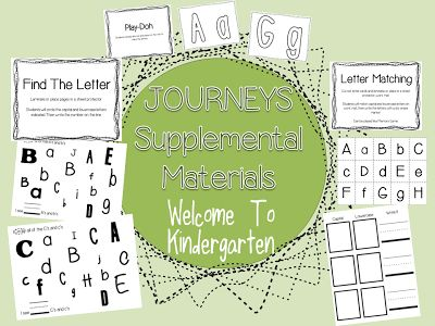 Houghton Mifflin Harcourt Journeys - Kindergarten - Welcome To Kindergarten   Supplemental Mateirals for Stations and Centers