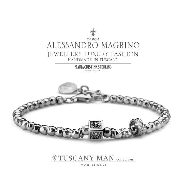 Bracciale TUSCANY MAN  http://shop.mariacristinasterling.it/categoria-prodotto/gioielli_uomo/collezione_tuscany_man/