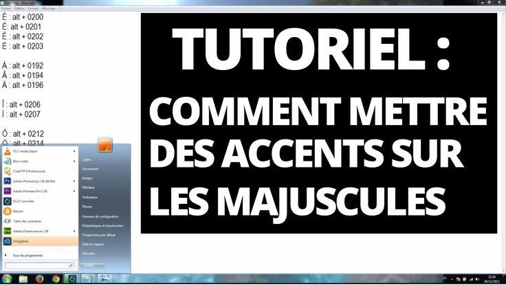 Accent et majuscule : Comment mettre des accents sur les majuscules