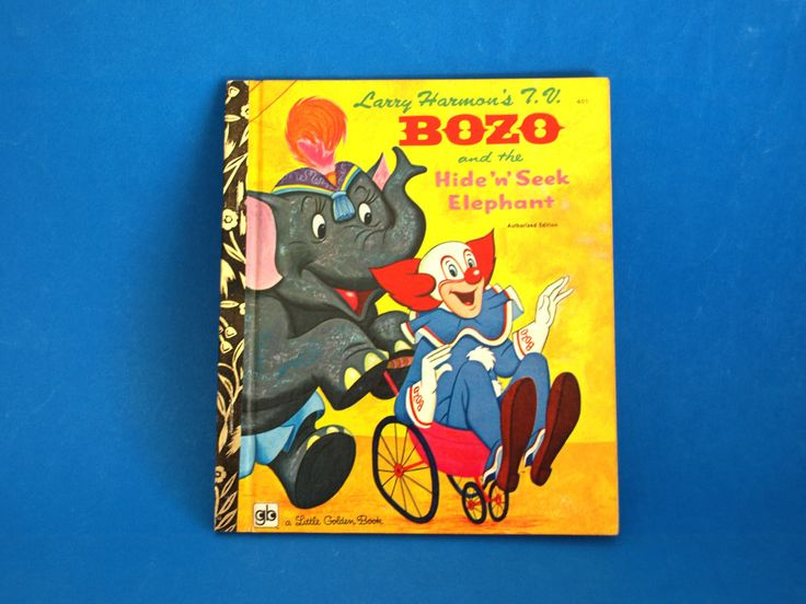 Bozo and the Hide N Seek Elephant Story Book - Little Golden Books - 1974 - Retro Children - 401 Walt Disney Larry Harmon's TV by FunkyKoala on Etsy