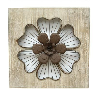 Victoria Natural Wood Rustic Flower Wall Decor 321370 In 2020 Flower Wall Decor Metal Flower Wall Decor Flower Wall