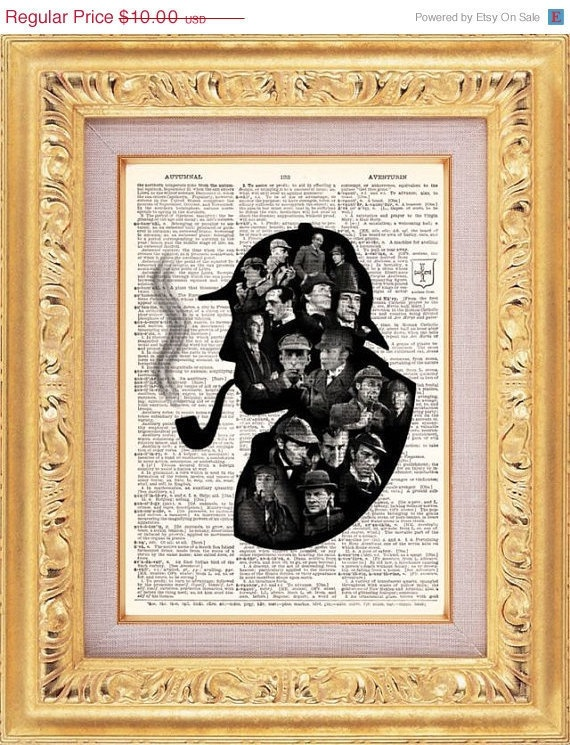 I can't decide what I think of the Holmes-within-Holmes motif.: Books Pages, Vintage Books, Kiss, Books Art, Vintage Prints, Vintage Wardrobe, The Eagles, Nurseries Art, Giraffes