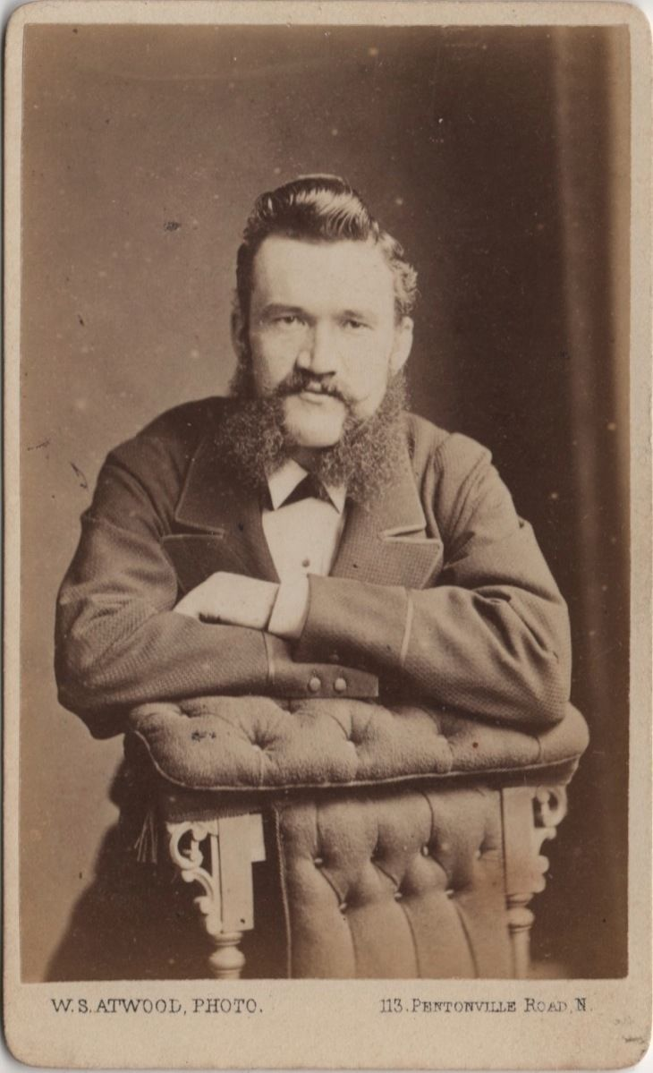 CDV Handsome Victorian Man Mutton Chops Beard Fashion - Atwood of London 1870s | eBay