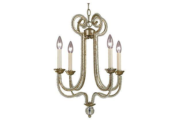 Camerson 4-Light Chandelier, Soft Gold on OneKingsLane.com