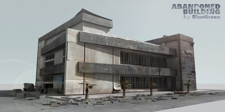 Abandoned Building 3Ds - 3D Model