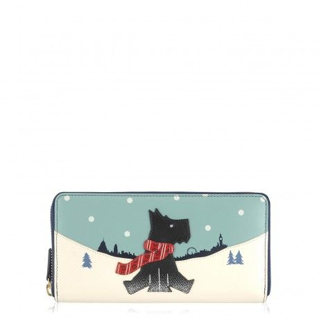 The Snow Days leather zip around matinee purse coordinates perfectly with this season's limited edition Picture Bag.