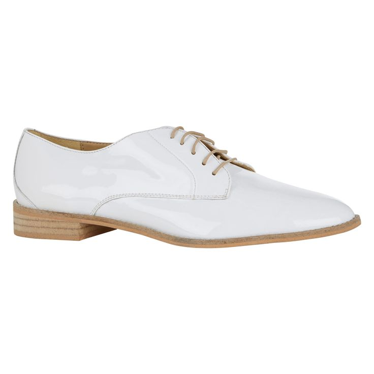 quot thurley quot white leather lace up shoe tk maxx my style