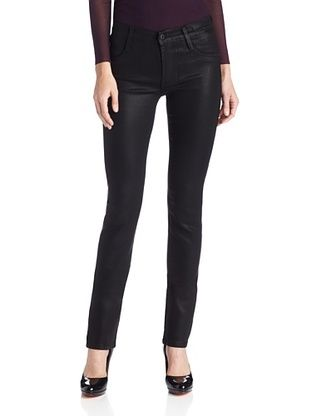 50% OFF James Jeans Women's Hunter Coated Straight Jean (Black Enamel)
