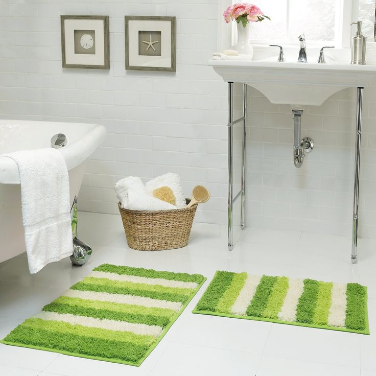 Best Green Bath Mats Ideas On Pinterest Moss Bath Mats Bath - Black chenille bath rug for bathroom decorating ideas
