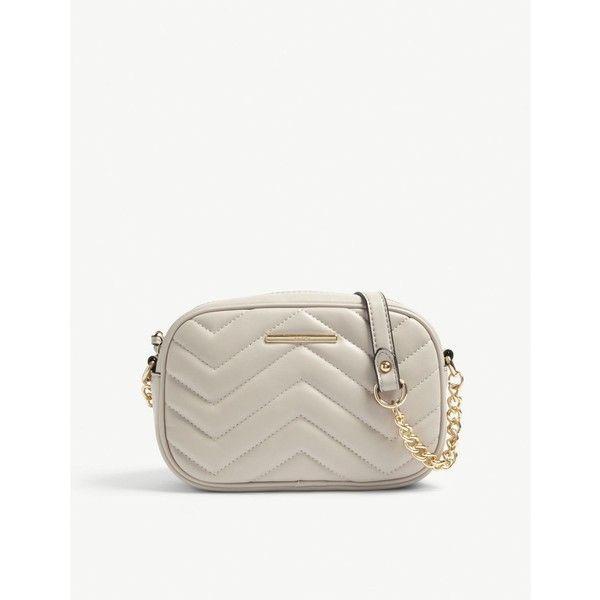 Ladies Designer Inspired Quilted Chevron Leather Cross Body Side Shoulder Bag