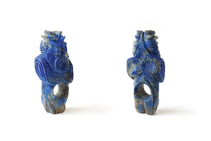 "Elvira Golombosi (M.F.A. 2015 Idar-Oberstein) • Ring ""no title"" • Lapis Lazuli • 2015 • © phot. by artist"