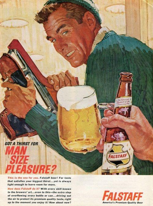 Handsome male skater - vintage Falstaff beer ad | wall art ...