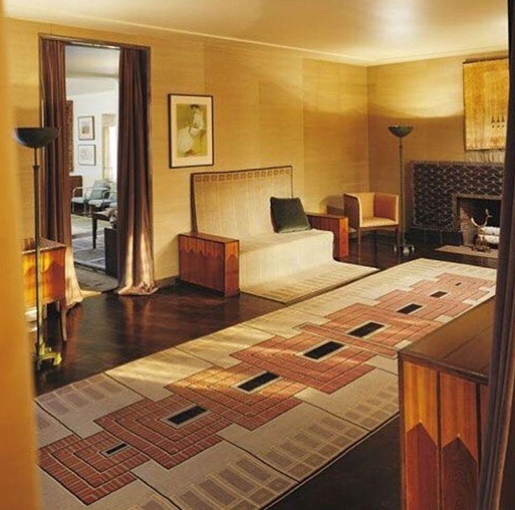 Saarinen House At Cranbrook Academy Of Art Bloomfield Hills Michigan Art Deco Living Room Deco Decor Floor Design