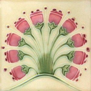 Vintage Art Nouveau tile