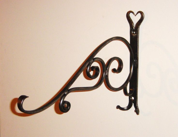Plant hanger, hand forged