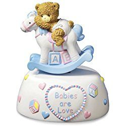 Baby Rocking Horse Musical Figurine by The San Francisco Music Box Company