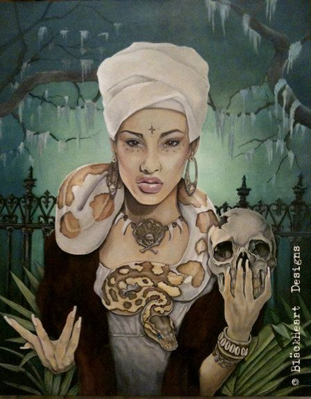 VooDoo Queen Giclee Canvas PRINT 24x30x1 1/4 by Ghostfire68, $200.00
