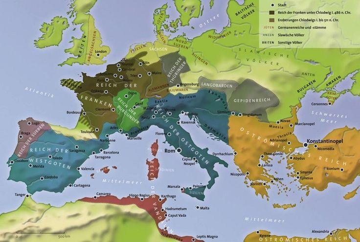 Die germanischen Reiche, anfang des 6.Jahrhunderts
