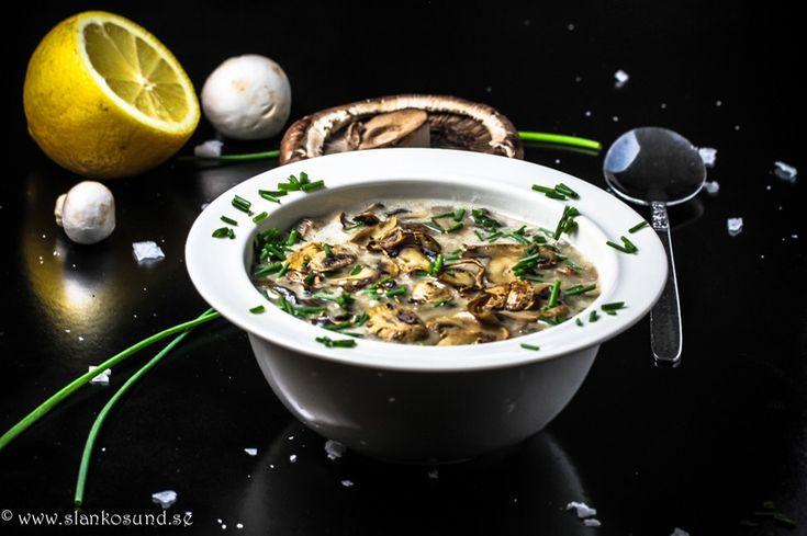 Krämig Svamp & Potatissoppa | slankosund.se | soppa, svamp, potatis