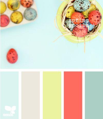 spring colorsColors Pallets, Kitchens Colors, Color Palettes, Design Seeds, Spring Spoiled, Color Schemes, Spring Colors, Colors Palettes, Colors Schemes