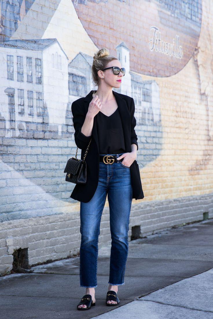 Downtown Titusville: Black Blazer, Straight Leg Jeans ...