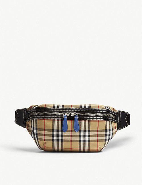 4fa43097aa32 BURBERRY Vintage check bum bag Bum Bag