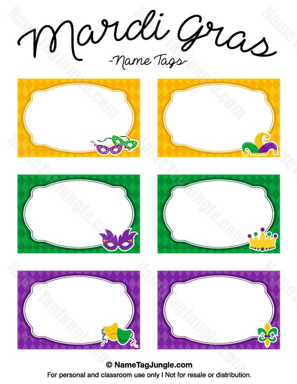 4 x 3 name badge template - free printable mardi gras name tags the template can also