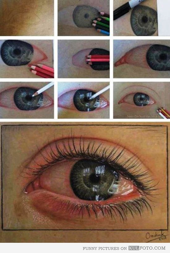 how to draw a crying eye easy