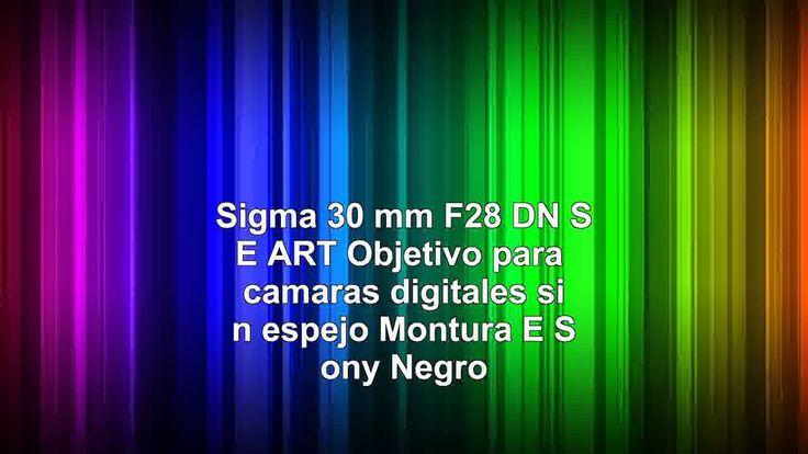 nice Sigma 30 mm F28 DN SE ART  Objetivo para cámaras digitales sin espejo Montura E Sony Negro