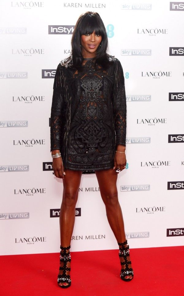 Naomi Campbell At The InStyle BAFTA EE Rising Star Party 2015 In Emilio Pucci